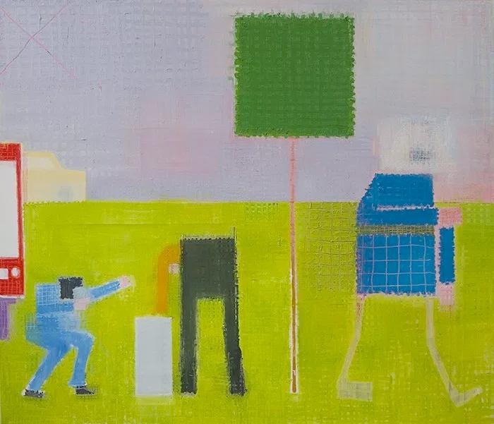 """Etienne Armandon """"La vie moderne"""", huile sur toile Oil on canvas, 125 x 146 cm, 2019"""