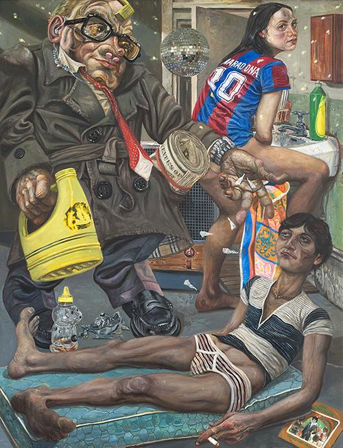 Marcos Carrasquer / El blanqueador / Huile sur toile – Oil on canvas / 116 x 89 cm / 2018-2019