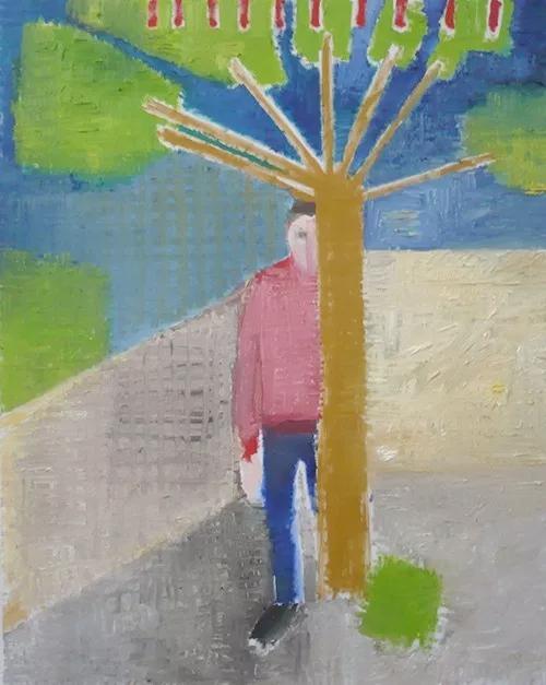 Étienne Armandon / Alboury / Huile sur toile - Oil on canvas / 92 x 73 cm / 2017