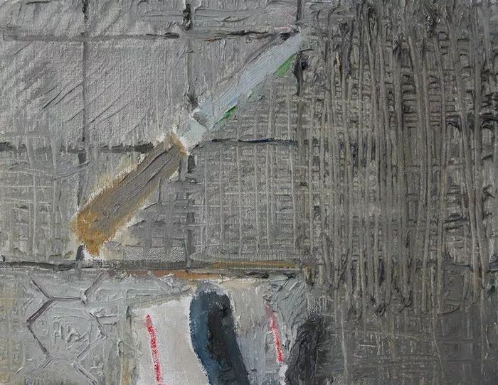 """Étienne Armandon / """"Étude, Couteau 2"""" / 2017 / Huile sur toile / Oil on canvas / 27 x 35 cm"""