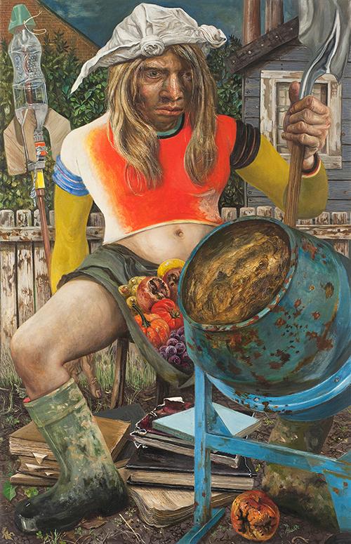 Marcos Carrasquer / Jardin ouvrier / Huile sur toile – Oil on canvas / 90 x 60 cm / 2019