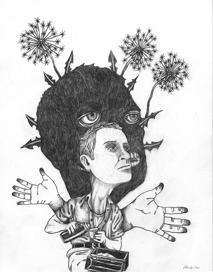 John Casey / Day Dreamer / Crayon sur papier / 35,5 x 28 cm / 2011