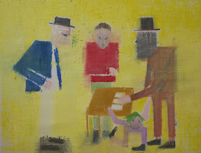 Étienne Armandon / Jeu / Huile sur toile / Oil on canvas / 89 x 116 cm / 2017