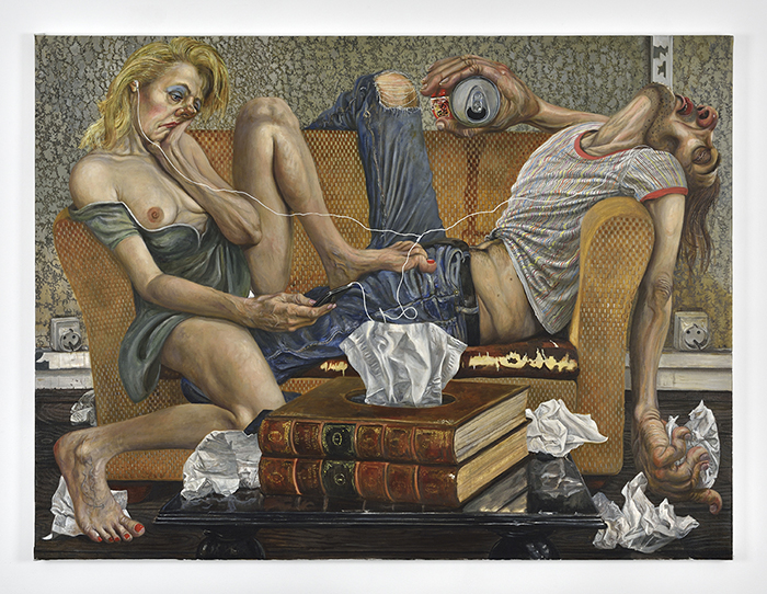 Marcos Carrasquer / Kleenex / Huile sur toile – Oil on canvas / 97 x 130 cm / 2019