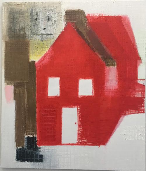 """Étienne Armandon, """"La maison du géant"""", 140 x 100 cm / Huile sur toile / Oil on canvas"""