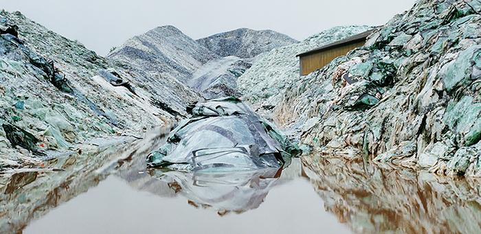 Eric Aupol / Paysage de verre n°1 / C-print /  65 x 129 / 2006