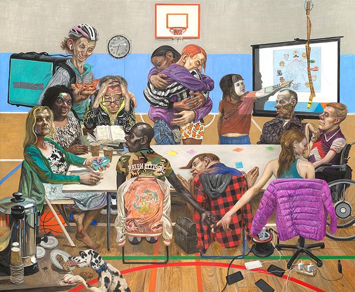 Marcos Carrasquer / Soviet / Huile sur toile – Oil on canvas / 200 x 242 cm / 2018-2019