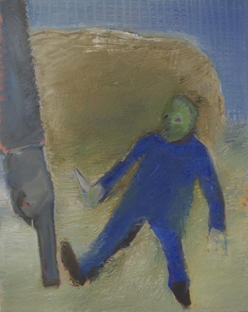 Étienne Armandon / Western / Huile sur toile - Oil on canvas / 92 x 73 cm / 2016