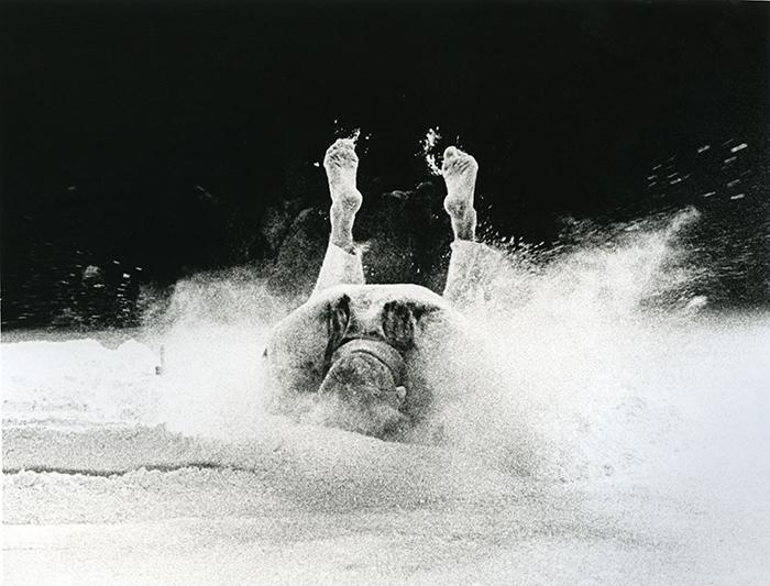 Nigel Rolfe Performance / 1980 / Target Falling De Fabriek Rotterdam / Archive