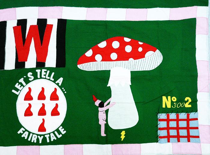 Walter Van Beirendonck / Let's tell a fairy tell – N° 3002 / série : flag / coton brodé, pièce unique, 80 x 120 cm / 2009