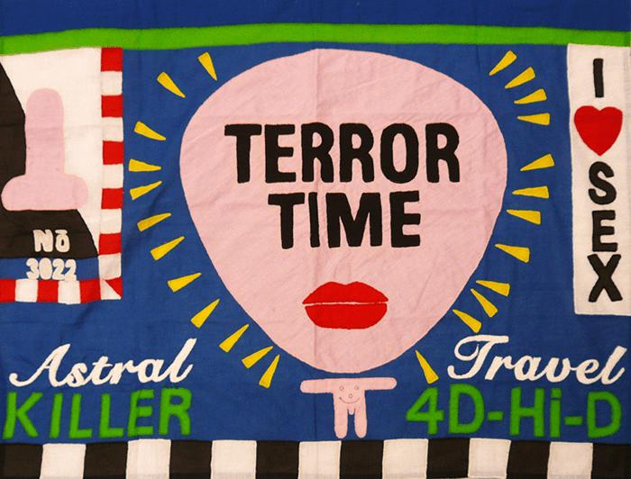 Walter Van Beirendonck / 3022 Terror Time / 81 x 61 cm / Coton brodé / 2009