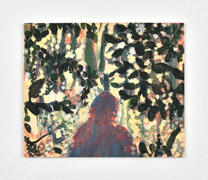 Vanessa Fanuele / Adagio / Huile sur papier – Oil on paper / 15 x 18 cm / 2016