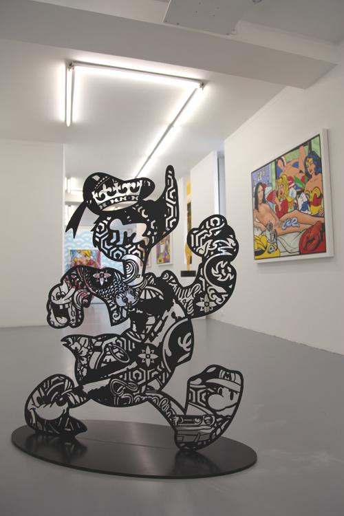 Speedy Graphito / Big Black Duck / Acier et peinture epoxy / 2017