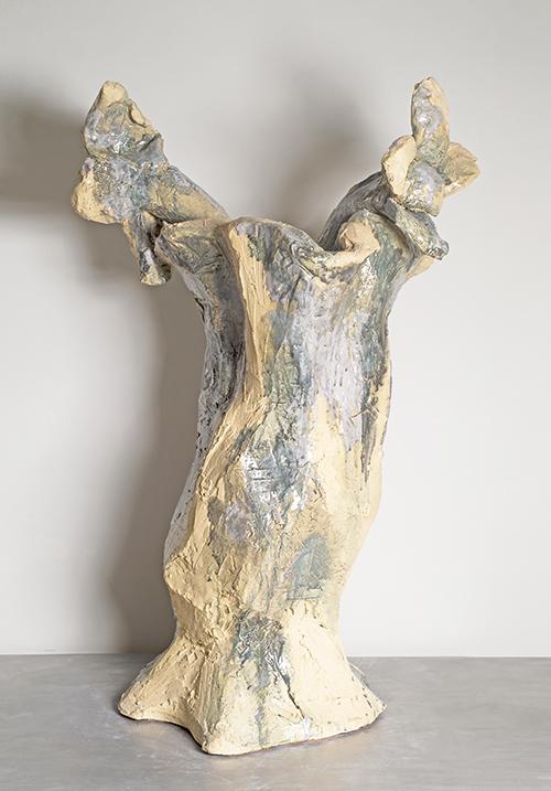 Clémence van Lunen / Wicked Flowers #12 / Grès émaillé – Glazed stoneware / 122 x 80 x 60 cm / 2014