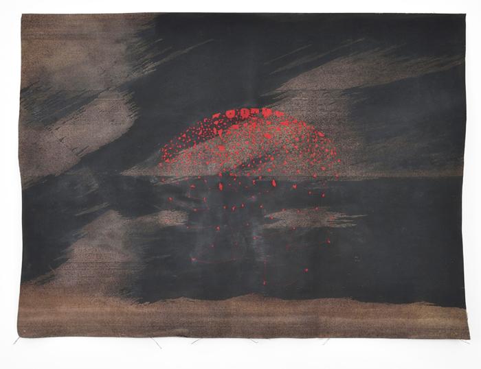 Sara Ouhaddou / « Woven/Unwoven #5 » / mixed media / 95 x 128 cm / 2015