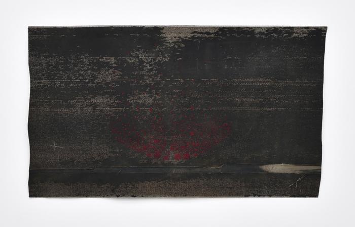 Sara Ouhaddou / « Woven/Unwoven #8 » / mixed media / 77 x 136 cm / 2017