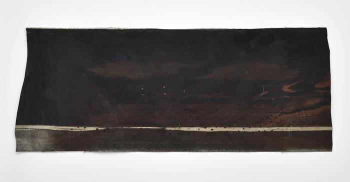 Sara Ouhaddou / « Woven/Unwoven #9 » / mixed media / 90 x 222 cm / 2017