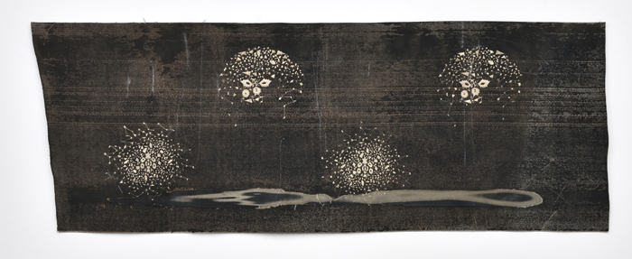 ara Ouhaddou / « Woven/Unwoven #12 » / mixed media / 77 x 210 cm / 2017