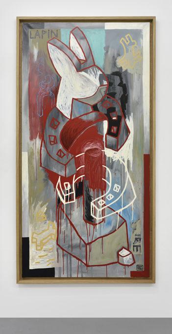 Speedy Graphito / Lapinture / Huile sur toile / 195 x 95 cm / 1988