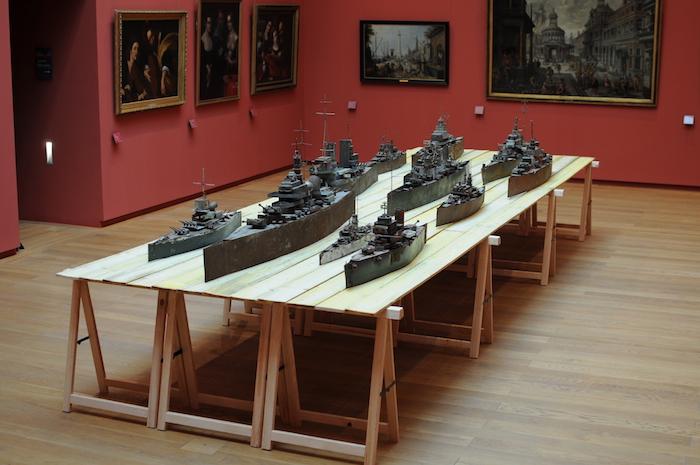 Harald Fernagu, vue de l'exposition SANS TAMBOUR NI TROMPETTE – Cent ans de Guerres – Chap.4 / Musée Massey, Tarbes, 2017