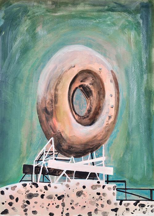 Vanessa Fanuele / Domus Stracciatella / Huile sur toile – Oil on canvas / 70 x 50 cm / 2017