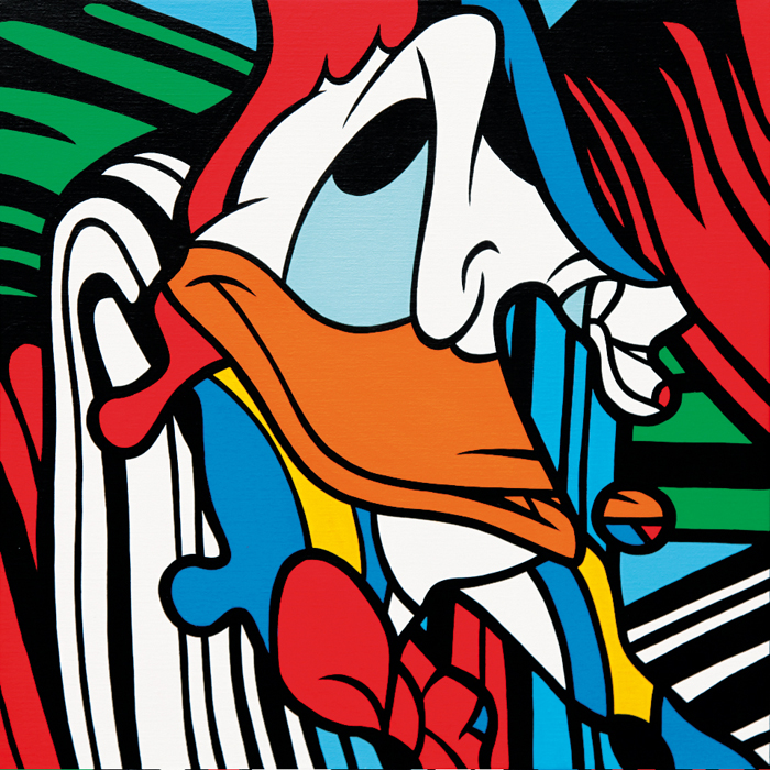 Speedy Graphito / Donald Brush / Acrylique sur toile – Acrylic on canvas / 60 x 60 cm /2016