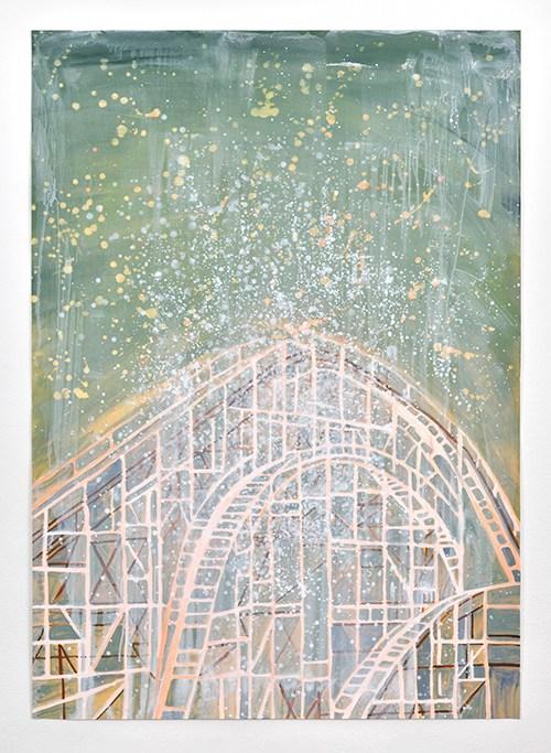 Vanessa Fanuele / Ecume / Huile sur papier – Oil on paper / 98 x 69 cm / 2019