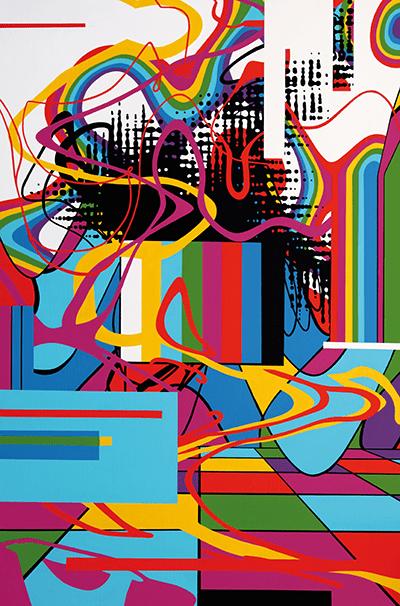 Speedy Graphito / Eden / Acrylique sur toile – Acrylic on canvas / 197 x 130 cm / 2015