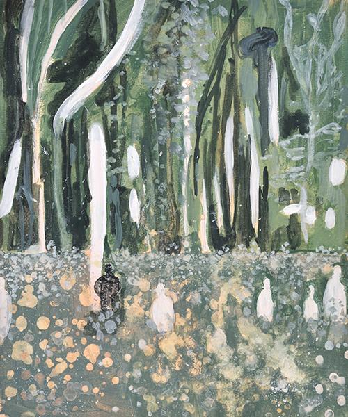 Vanessa Fanuele / Étude pour L'éternel retour / Huile sur papier – Oil on paper / 28 x 20 cm / 2019
