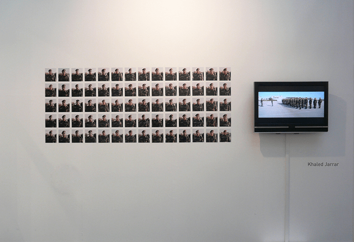 Khaled Jarrar / Docile Soldiers, view installtion Galerie Polaris