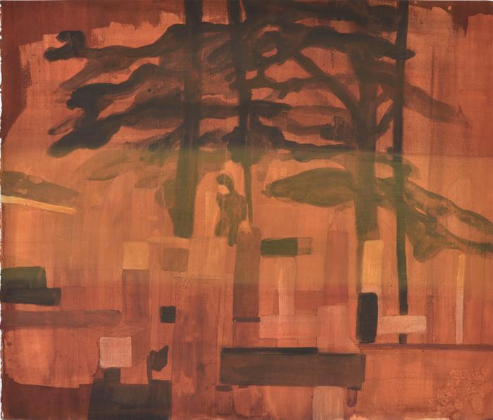 Vanessa Fanuele / Fauve / Huile sur papier – Oil on paper / 40 x 50 cm / 2017