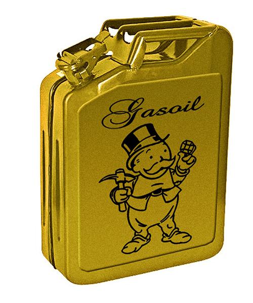 Speedy Graphito / Jerrican Gasoil / Feuilles d'or sur jerrican / 47 x 34 x 16 cm / 2012