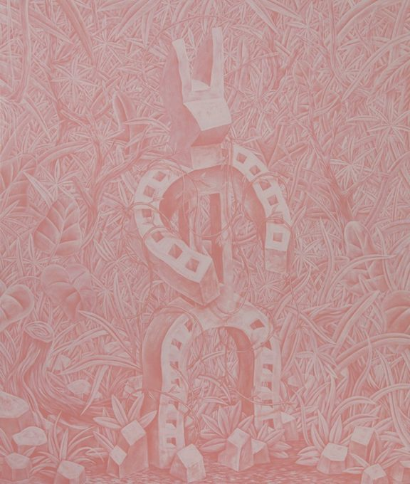 Speedy Graphito / Hypnotic Karma / 2018 / Acrylique sur toile / 150 x 127 cm