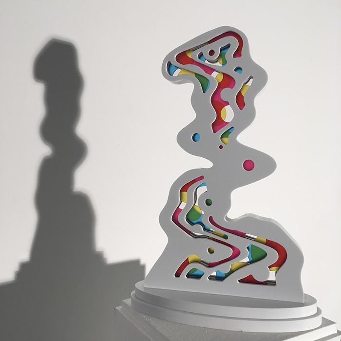 Speedy Graphito / The way (white) / Corian et plexiglass / 33 x 22 x 10 cm / 2015