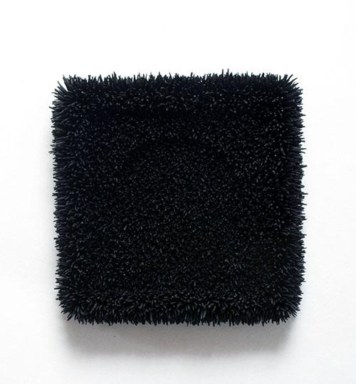Harald Fernagu, Mes icônes, vierge noire à l'enfant, Technique mixte / Mixed media, 33 x 33 x 7 cm, 2018
