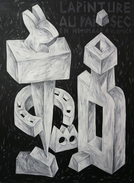 Speedy Graphito / Lapinture au pain sec / 130 x 97 cm / Acrylique sur toile – Acrylic on canvas / 1987