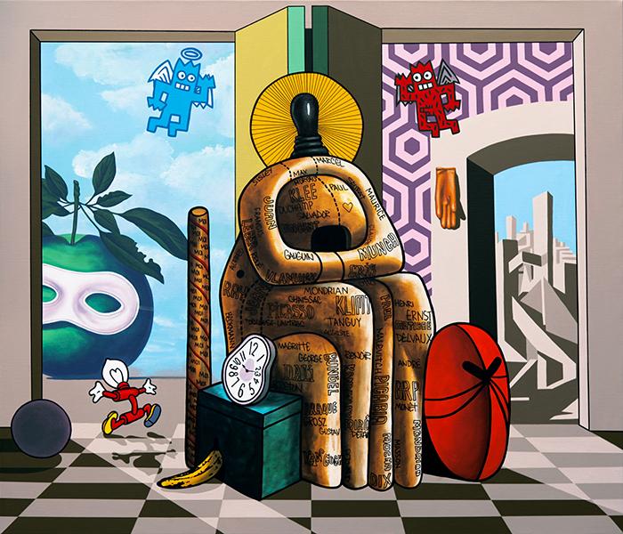 Speedy Graphito / La sainte Famille / Acrylique sur toile – Acrylic on canvas / 120 x 140 cm / 2018