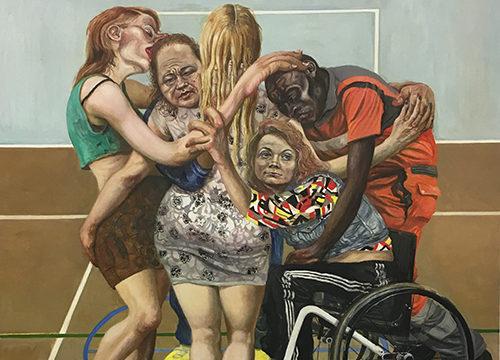Marcos Carrasquer / L'amorce / Huile sur toile – Oil on canvas / 131 x 97 cm / 2019
