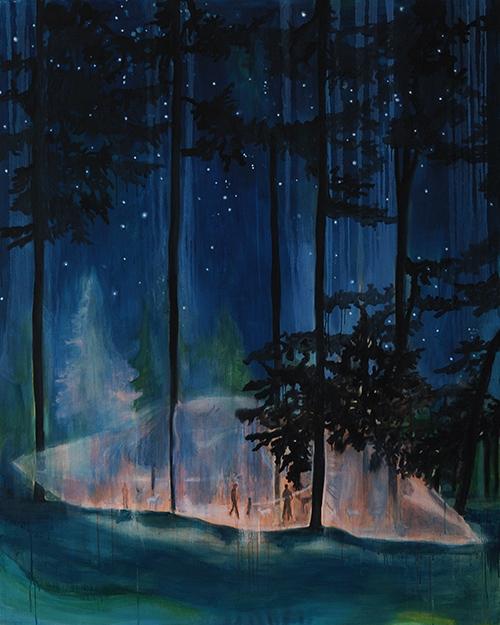 Vanessa Fanuele / L'onde en reflet / Huile sur toile – Oil on canvas / 162 x 130 cm / 2016