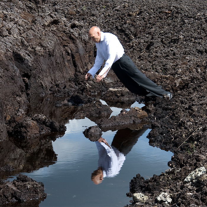 Nigel Rolfe / Performance Video / 2011 / into The Mire On Site Bog of Allen. Ireland