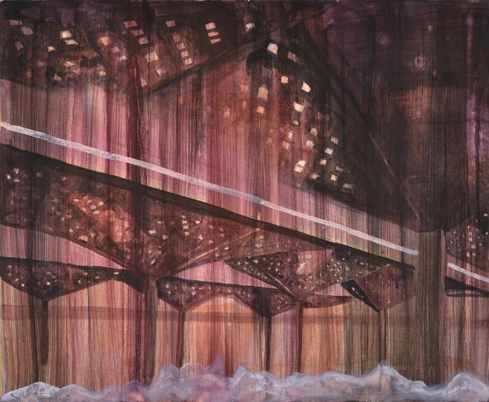 Vanessa Fanuele / Nature d'après / Huile sur toile – Oil on canvas / 50 x 61 cm / 2017