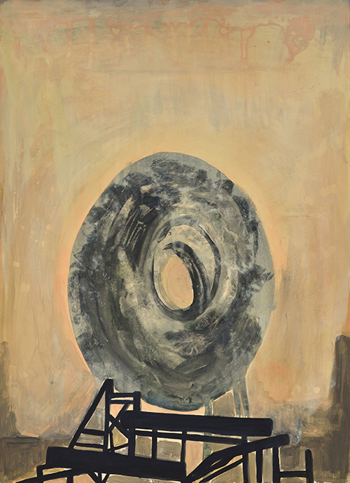 Vanessa Fanuele / Pour horizon / Huile sur papier – Oil on paper / 70 x 50 cm / 2018