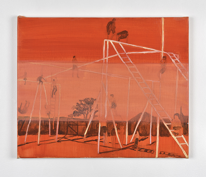 Vanessa Fanuele / Presque éternité / Huile sur toile – Oil on canvas / 30 x 30 cm / 2016