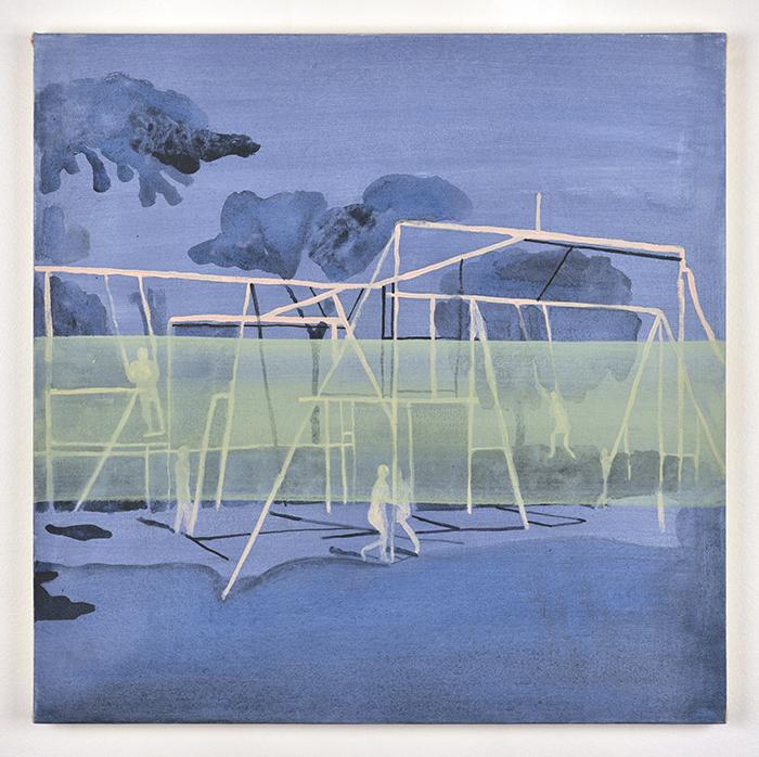 Vanessa Fanuele / Presque éternité III / Huile sur toile / 50 x 50 cm /2018