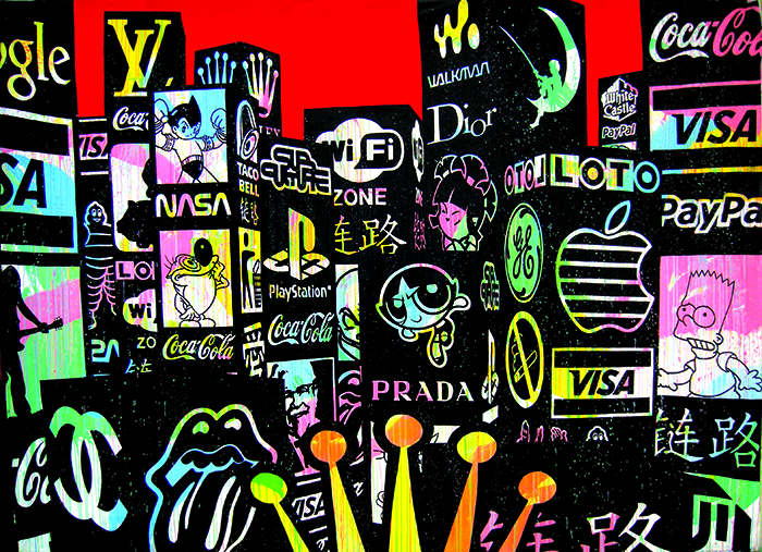 Speedy Graphito / Queen City / Acrylique sur toile – Acrylic on canvas / 340 x 270 cm / 2008