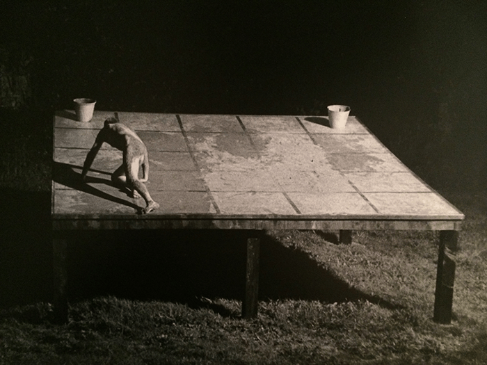 Nigel Rolfe / Performance / 1979 / Ramp Crawling Drawing / Oasis Dublin / Archive