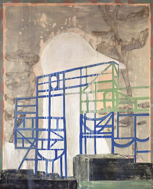 Vanessa Fanuele / Retro / Huile sur toile – Oil on canvas / 160 x 130 cm / 2017