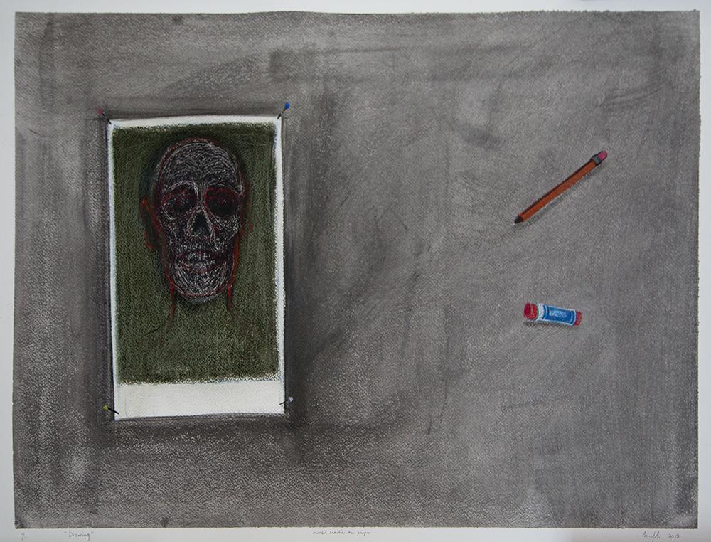 Richard Mudariki / Drawing / Mixed media on paper / 60 x 90 cm / 2019