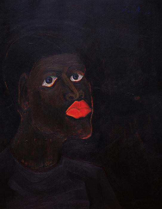 Richard Mudariki / Handsome boy / Acrylique sur toile – Acrylic on canvas / 50 x 36 cm / 2019