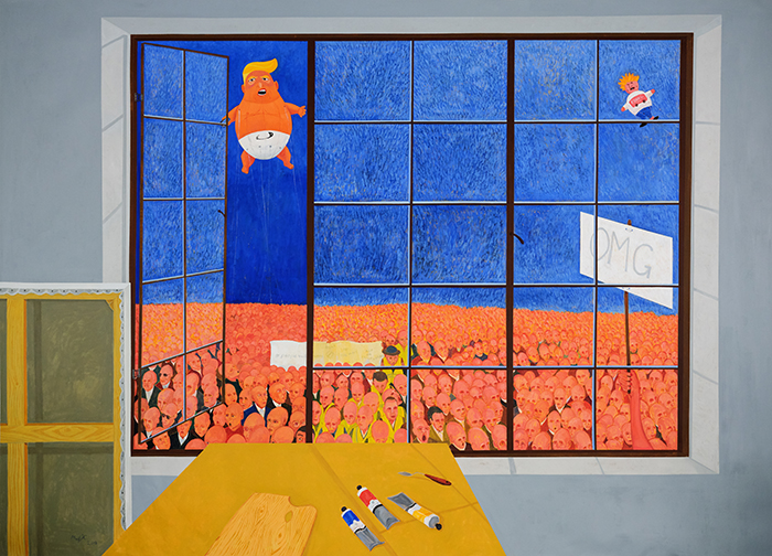 Richard Mudariki / View from the artist's studio / Acrylique sur toile – Acrylic on canvas / 210 x 300 cm / 2019
